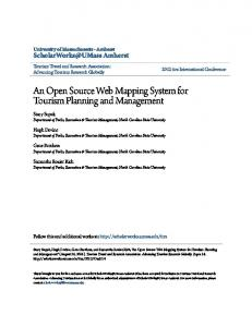 An Open Source Web Mapping System for Tourism Planning and Management