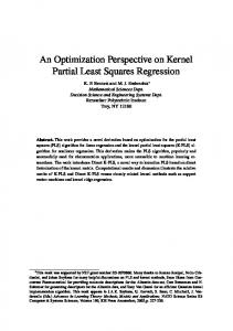 An Optimization Perspective on Kernel Partial Least Squares Regression