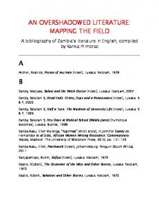 AN OVERSHADOWED LITERATURE: MAPPING THE FIELD