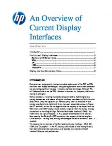 An Overview of Current Display Interfaces