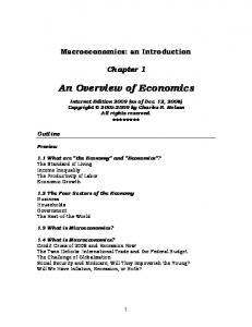 An Overview of Economics