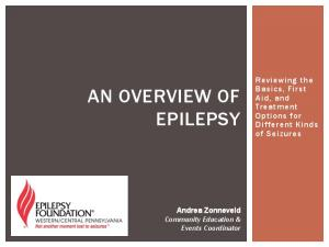 AN OVERVIEW OF EPILEPSY