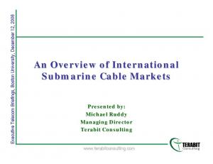 An Overview of International Submarine Cable Markets