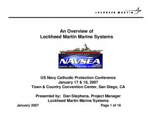 An Overview of. Lockheed Martin Marine Systems