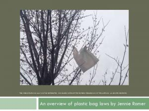 An overview of plastic bag laws by Jennie Romer