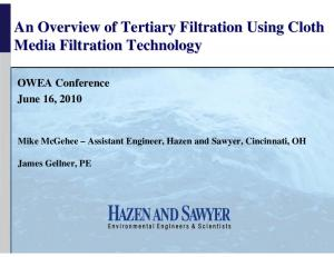 An Overview of Tertiary Filtration Using Cloth Media Filtration Technology