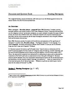 An Overview: Section 1: Planting Sweetgrass (pp )