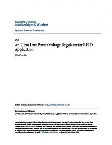 An Ultra Low Power Voltage Regulator for RFID Application
