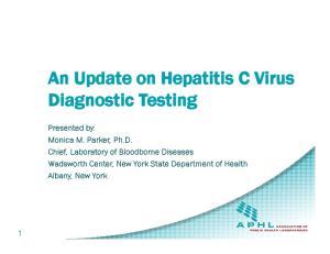An Update on Hepatitis C Virus Diagnostic Testing