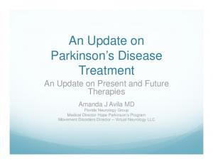 An Update on Parkinson s Disease Treatment