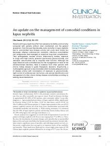 An update on the management of comorbid conditions in lupus nephritis