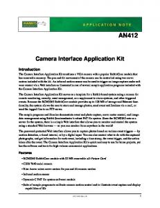 AN412. Camera Interface Application Kit. Introduction. Features