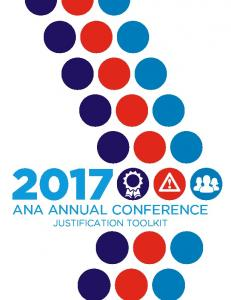 ANA ANNUAL CONFERENCE JUSTIFICATION TOOLKIT