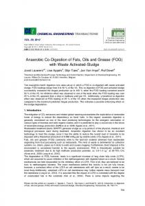 Anaerobic Co-Digestion of Fats, Oils and Grease (FOG) with Waste Activated-Sludge