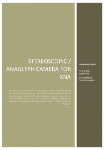 ANAGLYPH CAMERA FOR XNA