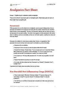 Analgesics Fact Sheet