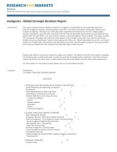 Analgesics - Global Strategic Business Report