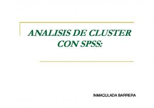 ANALISIS DE CLUSTER CON SPSS: INMACULADA BARRERA