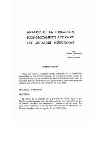 ANALISIS DE LA POBLACION. ECONOMICAMENTE ACTIVA DE