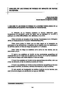 ANALISIS DE LAS ZONAS DE RIESGO DE IMPACTO DE RAYOS EN ESPAÑA