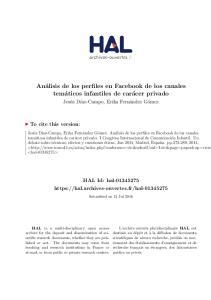 Análisis de los perfiles en Facebook de los canales temáticos infantiles de carácer privado