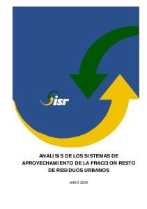 ANALISIS DE LOS SISTEMAS DE APROVECHAMIENTO DE LA FRACCION RESTO DE RESIDUOS URBANOS