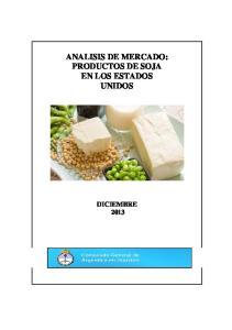 ANALISIS DE MERCADO: PRODUCTOS DE SOJA EN LOS ESTADOS UNIDOS