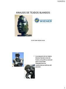 ANALISIS DE TEJIDOS BLANDOS