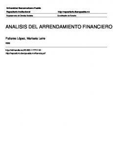 ANALISIS DEL ARRENDAMIENTO FINANCIERO