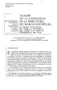 ANALISIS EL MARCO CONCEPTUAL DEL FASB, LA PROPUESTA DEL ICAEW Y EL PAQUETE INFORMATIVO DEL ICAS