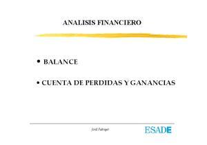 ANALISIS FINANCIERO CUENTA DE PERDIDAS Y GANANCIAS