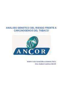 ANALISIS GENETICO DEL RIESGO FRENTE A CARCINOGENOS DEL TABACO