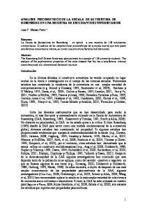 ANALISIS PSICOMETRICO DE LA ESCALA DE AUTOESTIMA DE ROSENBERG EN UNA MUESTRA DE ESTUDIANTES UNIVERSITARIOS