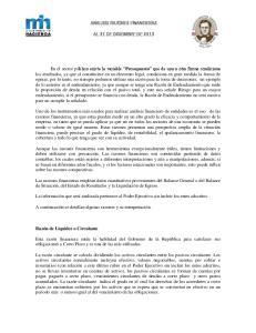 ANALISIS RAZONES FINANCIERAS AL 31 DE DICIEMBRE DE 2013