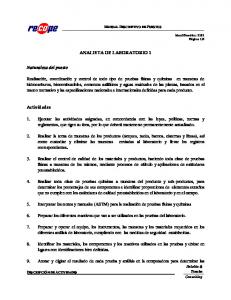 ANALISTA DE LABORATORIO 1