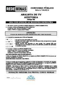 ANALISTA DE TV AUDITORIA