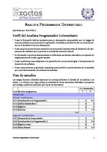 ANALISTA PROGRAMADOR UNIVERSITARIO