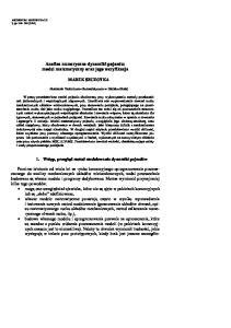 Analiza numeryczna dynamiki pojazdu: model matematyczny oraz jego weryfikacja