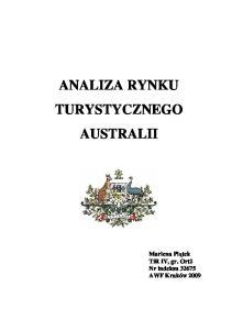ANALIZA RYNKU TURYSTYCZNEGO AUSTRALII