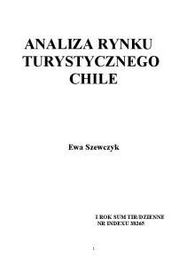 ANALIZA RYNKU TURYSTYCZNEGO CHILE