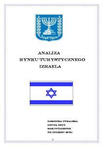 ANALIZA RYNKU TURYSTYCZNEGO IZRAELA