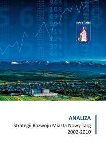 Analiza Strategii Rozwoju Miasta Nowy Targ