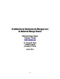 Analizando la Demanda de Mangos con la National Mango Board