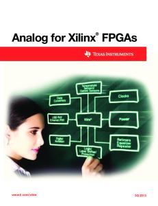 Analog for Xilinx FPGAs