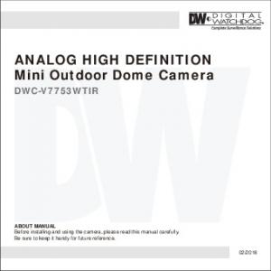 ANALOG HIGH DEFINITION Mini Outdoor Dome Camera