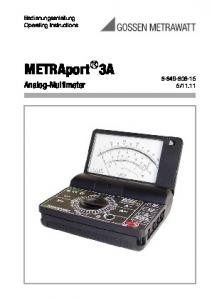 Analog-Multimeter