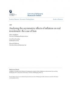Analysing the asymmetric effects of inflation on real investment: the case of Iran