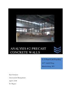 ANALYSIS #2 PRECAST CONCRETE WALLS