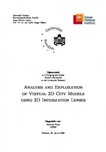 Analysis and Exploration of Virtual 3D City Models using 3D Information Lenses