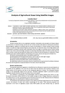 Analysis of Agricultural Areas Using Satellite Images
